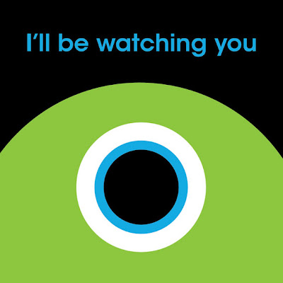 monster with huge eye text i'll be watching you