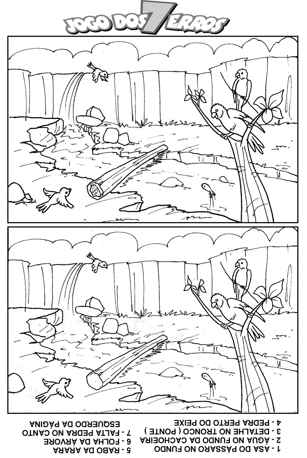 a desenhar Jogos dos 7 erros  monica cebolinha de naltal e outros  colorir