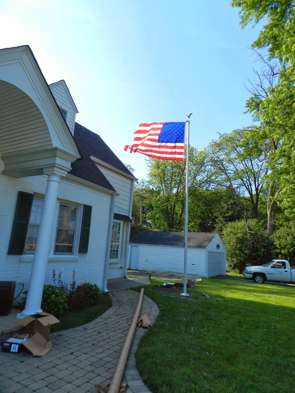 how to install a flagpole proper way to tie halyard knot and
