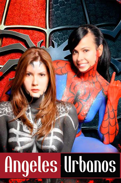 Bodypainting SpiderMan