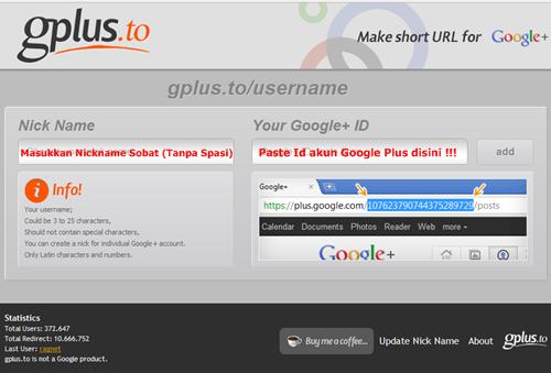 Tips Mempersingkat Alamat URL Akun Google Plus | Khamardos Blog