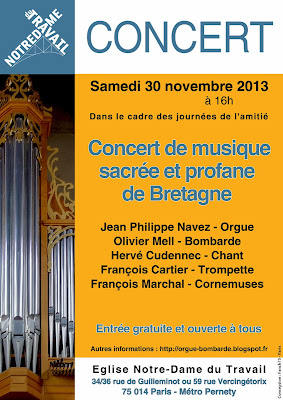 Concert Orgue & Bombarde - Paris