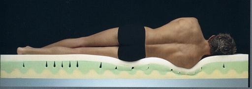 Colchón viscoelástico se adapta al cuerpo formando un molde