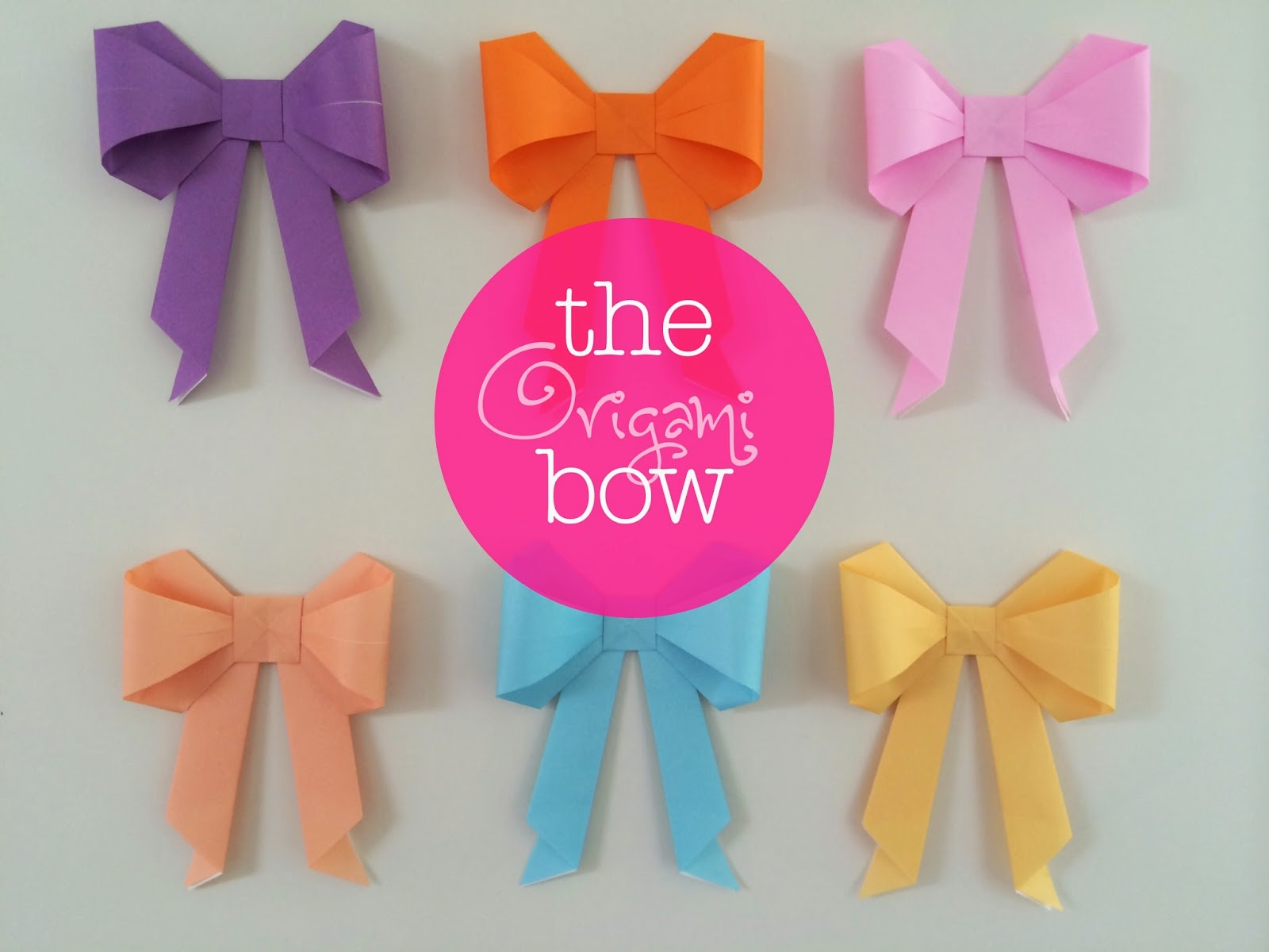 Random Crafting Adventures Origami Bows