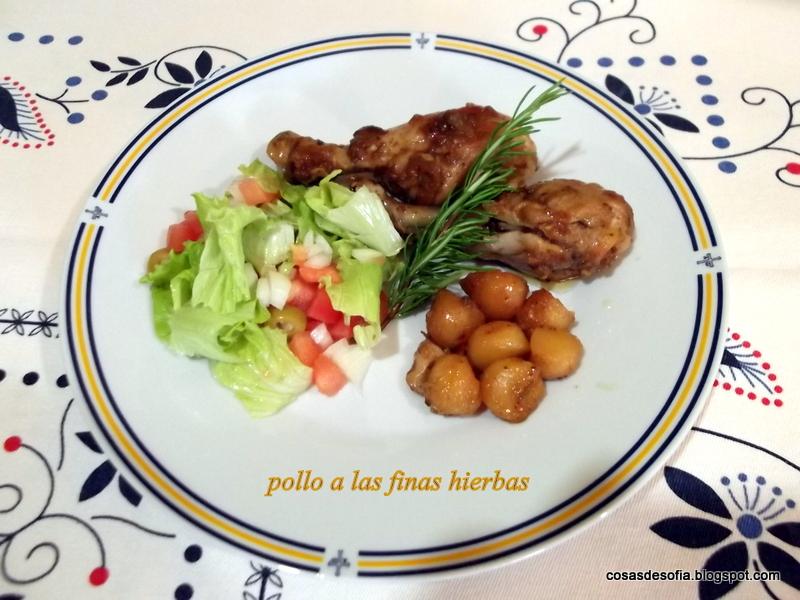 Cosas de sof a pollo guisado a las finas hierbas - Pollo asado a las finas hierbas ...