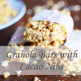Granola Bars with Cacao Nibs