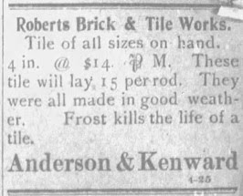 Roberts Brick & Tile Works 1902 Ad