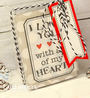 SRM Stickers Blog - Laurel Seabrook - #stickers #Valentines #labels #clear box #twine