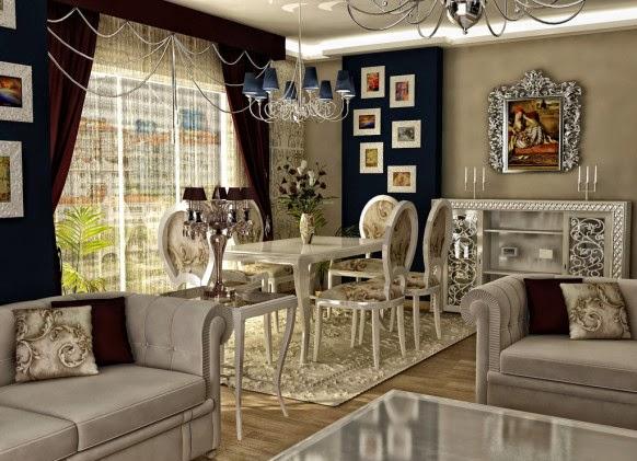 Foto Gambar Desain Ruang Keluarga Klasik Dan Mewah Di Eropa Lengkap Terbaru