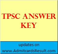 Tripura PSC Answer key 2015
