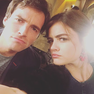 PLL BTS 6x19 Lucy Hale and Ian Harding (Lucian)