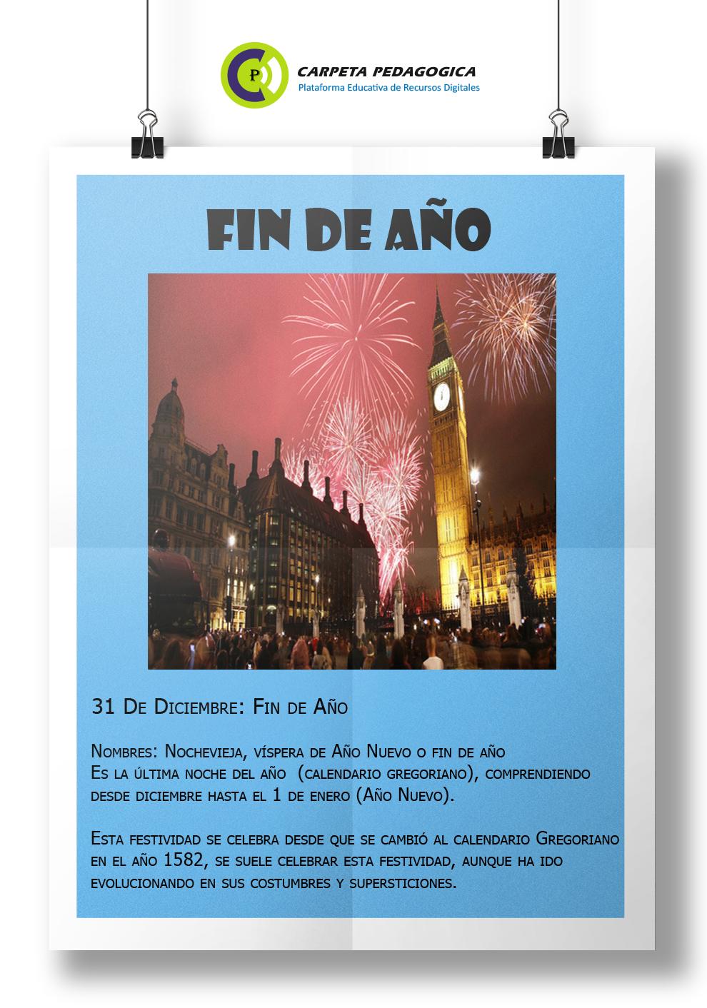 31 de diciembre: Fin de Año