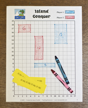 Free Island Conquer Area and Perimeter Game