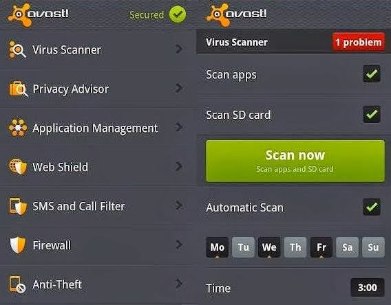 top 3 antivirus apps for android phones