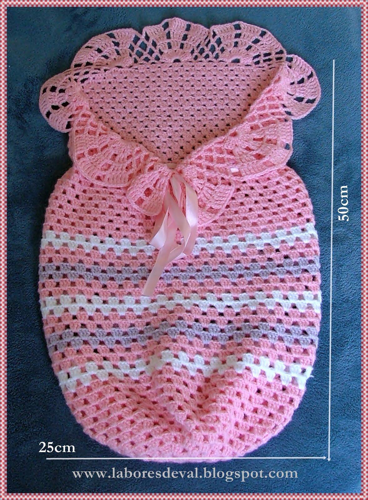 Labores de val casulo para beb - Labores de crochet para bebes ...