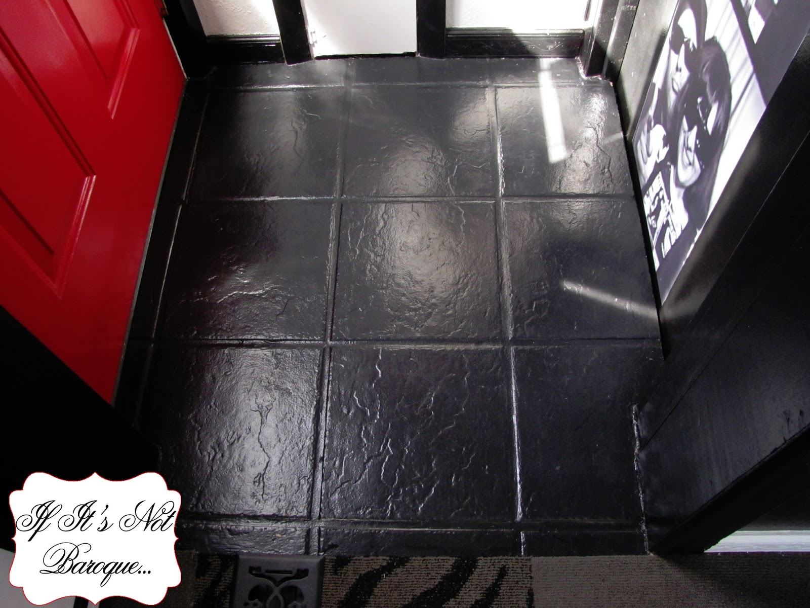 If its not baroque how i painted a ceramic tile entry floor how i painted a ceramic tile entry floor dailygadgetfo Gallery
