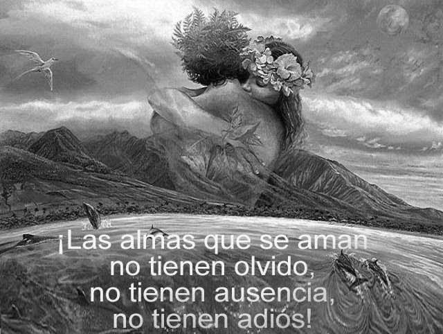 Frases de amor, almas, aman, olvido, ausencia, adiós.