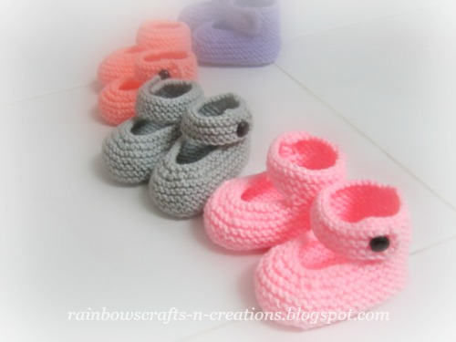 How To Knit Baby Booties With Two Straight Needles