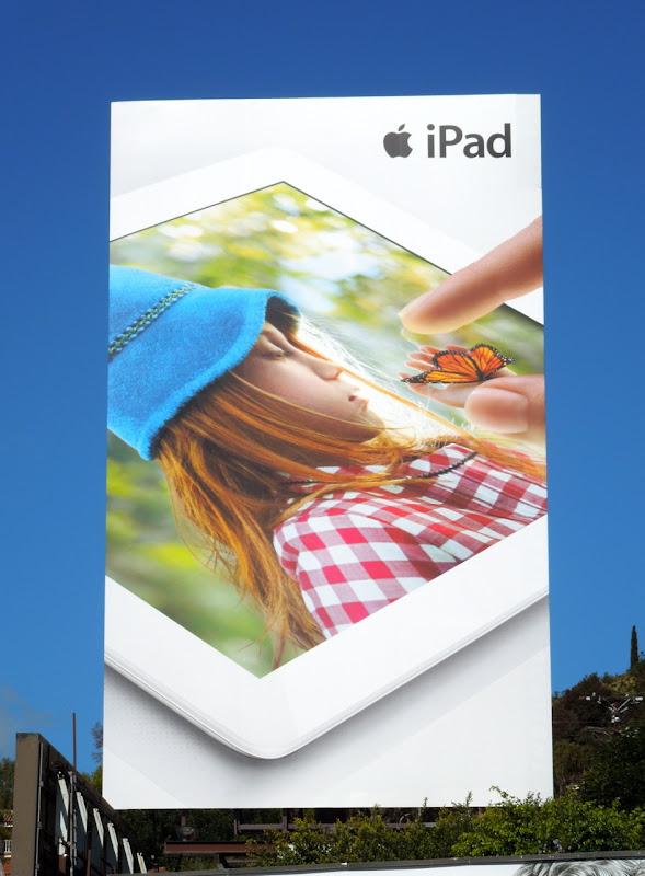 Giant Apple iPad butterfly billboard