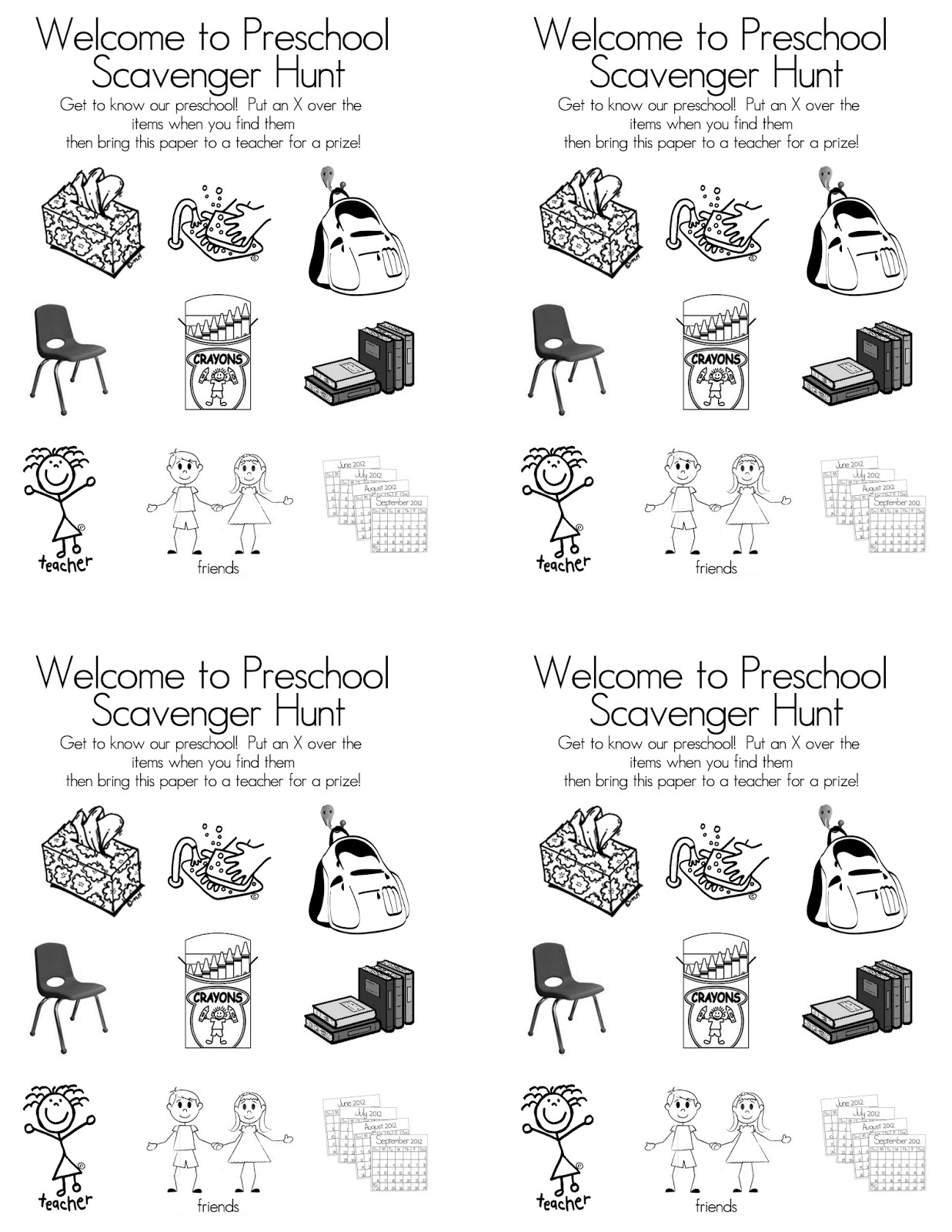 Preschool Open House Free Printable Scavenger Hunt Tips