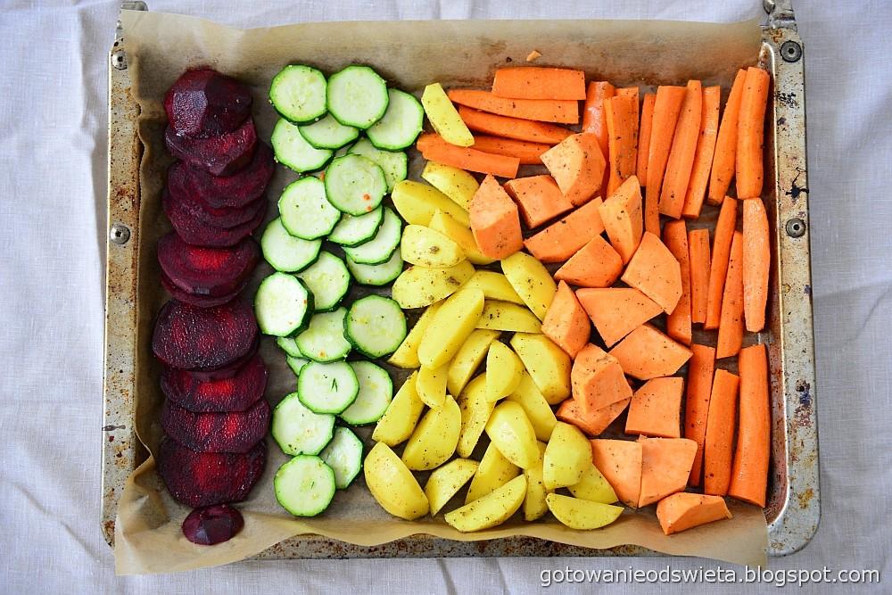 pieczone warzywa na blache