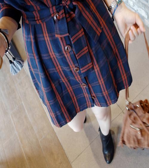 Belted Check Shirt Dress