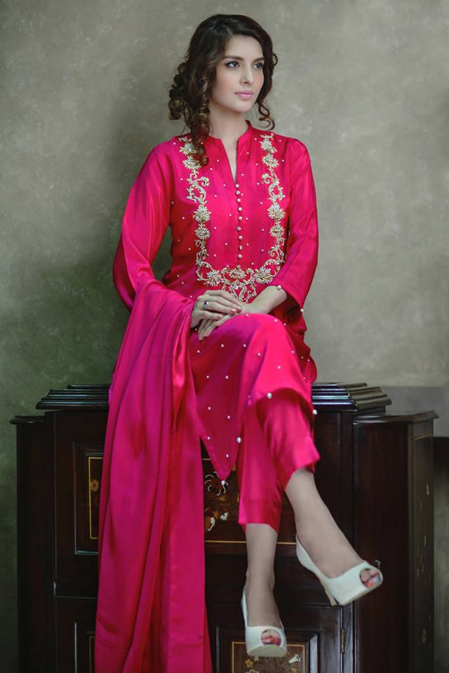 Agha noor luxury pret embroidered winter suits collection