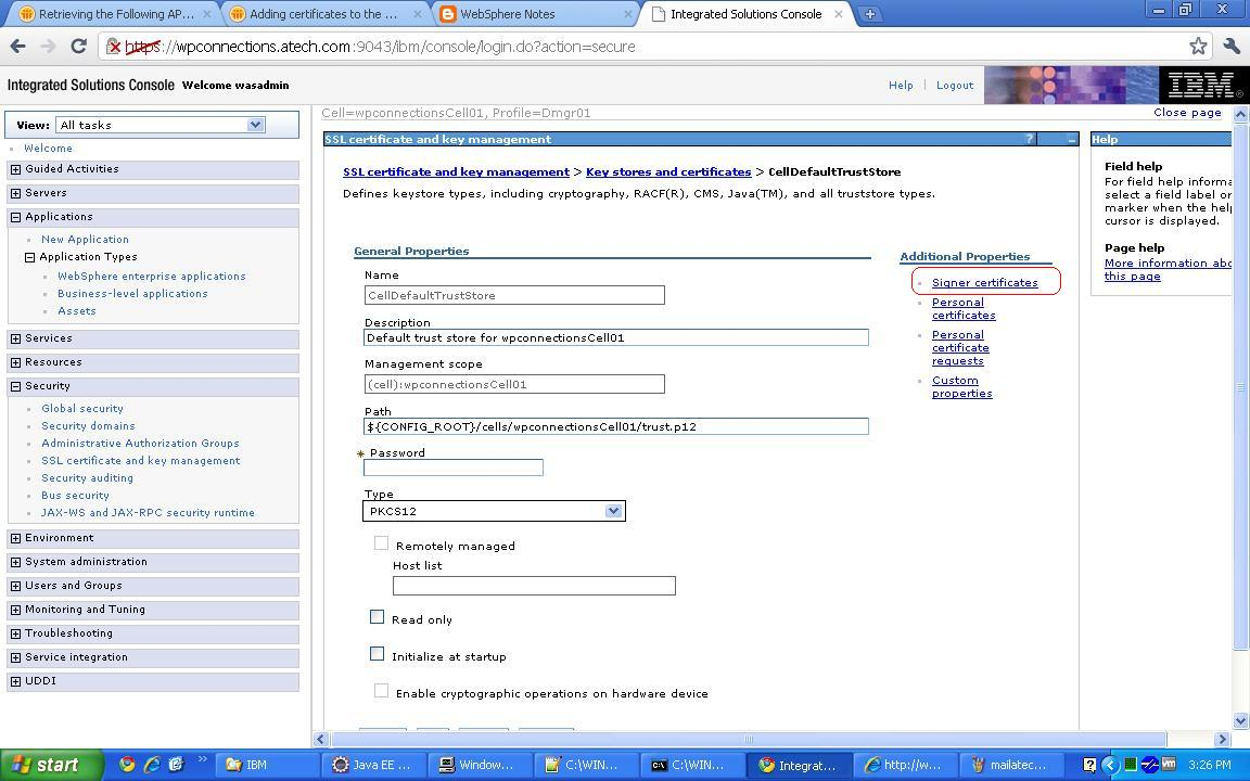 Sunils notes making https call from inside the websphere click on signer certificates 1betcityfo Gallery