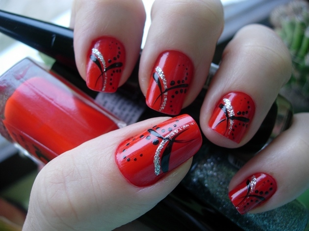 Blood Red Nail Designs