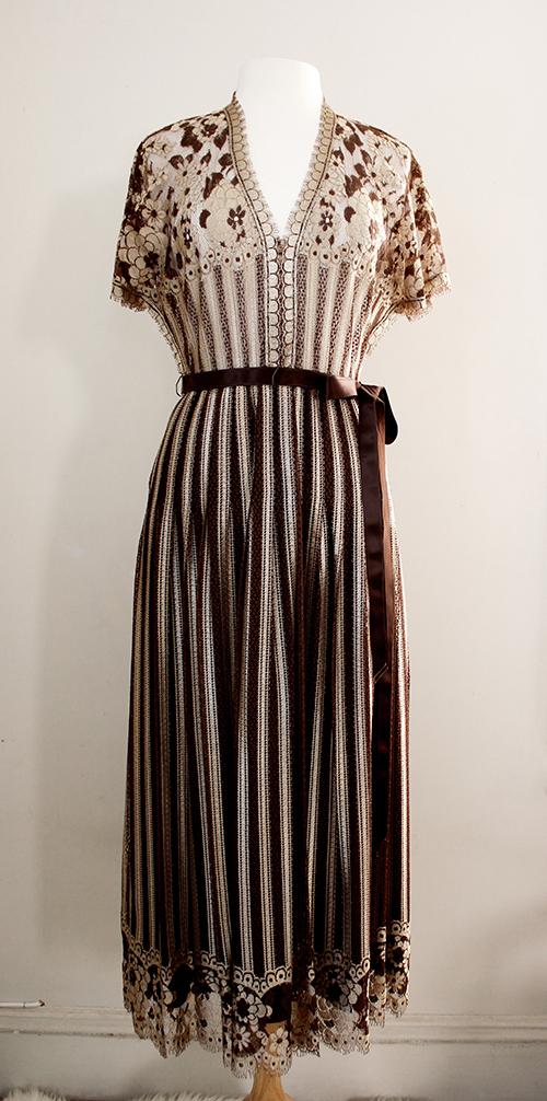 vintage 1960s lace maxi dress