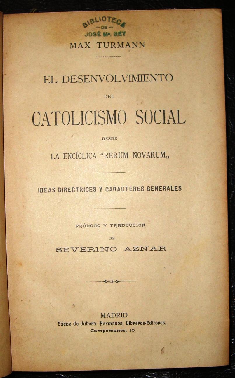 rerum novarum Complete summary of vincenzo gioacchino pecci's rerum novarum enotes plot summaries cover all the significant action of rerum novarum.