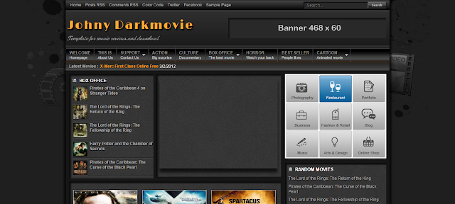 Johny Darkmovie Blogger Template