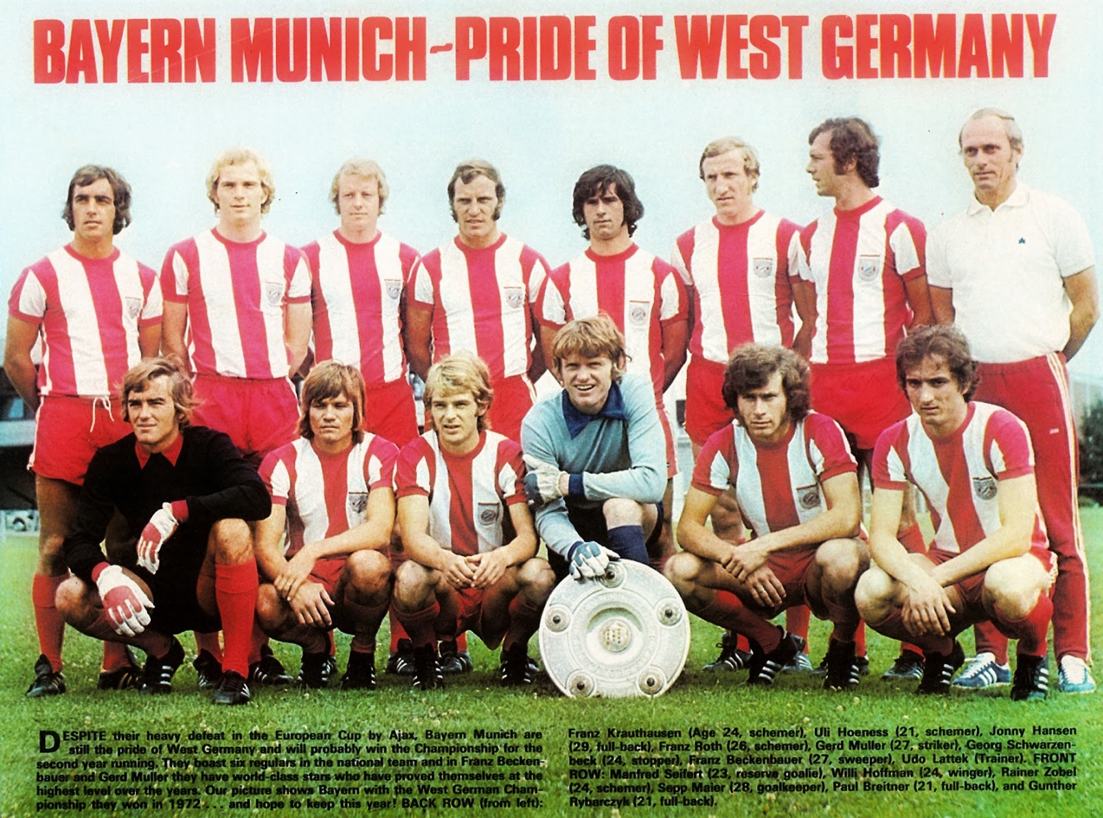 Bayern M 220 Nchen 1972 73 The Vintage Football Club
