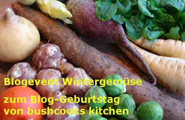 Blogevent Wintergemüse zum Blog-Geburstag von bushcooks kitchen