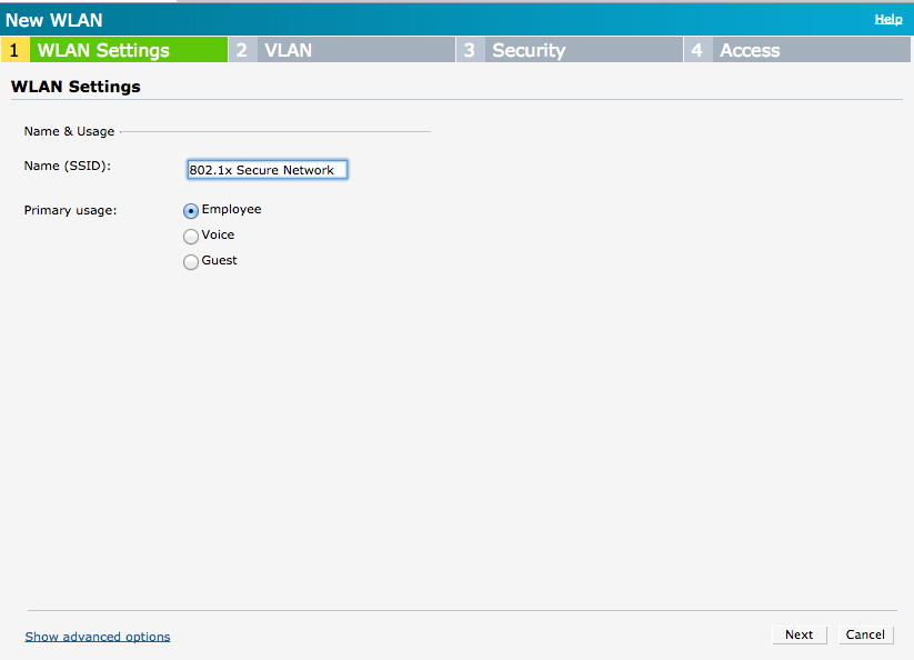 Aruba IAP WLAN Settings Wizard