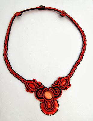 naszyjnik sutasz soutache necklace  9