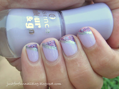 31DC2013 Day 6 - Violet Nails with  Essence 149 - hello marshmallow! & Sally Hansen 140 - Rockstar Pink
