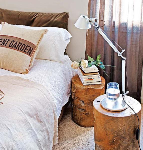 Mesilla de noche decorar tu casa es - Tronco madera decoracion ...