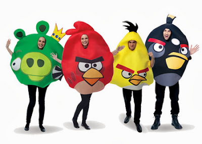 if you are fans of angry birds these group halloween costumes are great for couples - Great Group Halloween Costume Ideas