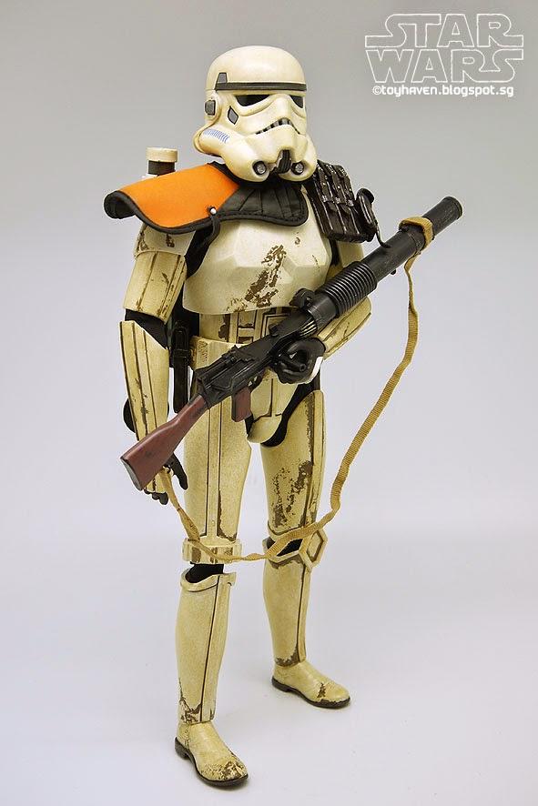 """Star Wars Sandtrooper Orange Shoulder Armor 6/"""" Loose Action Figure"""