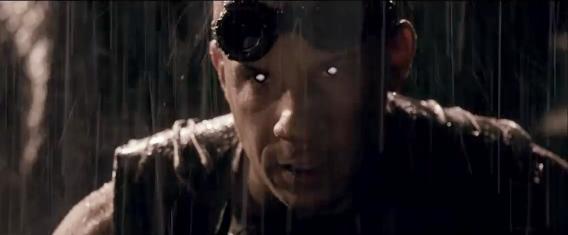 Close up of Riddick