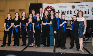 Pearl River 2013 under-12 ceili band at the Parsippany Fleadh. (Photos by Sean Conway)