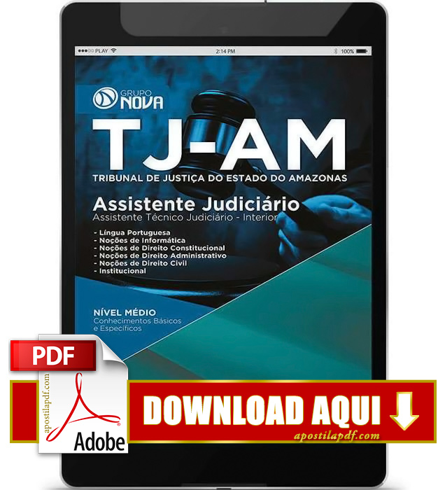 Apostila TJ AM 2015 Assistente Técnico Judiciário PDF Download
