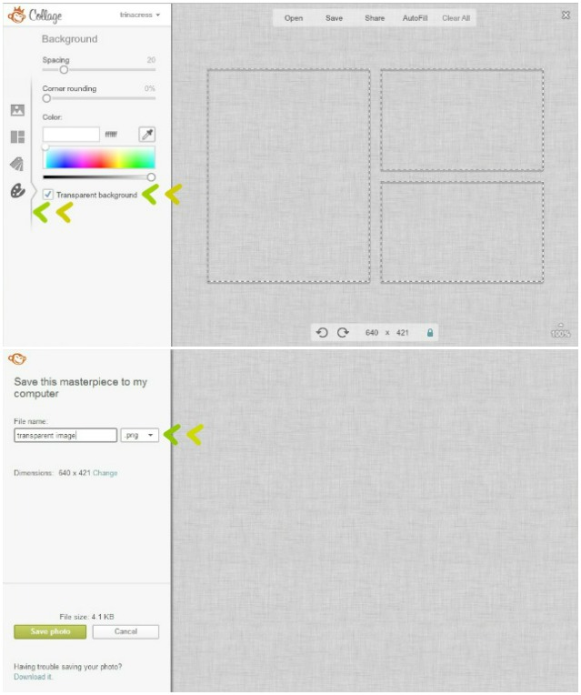 create transparent png image in picmonkey