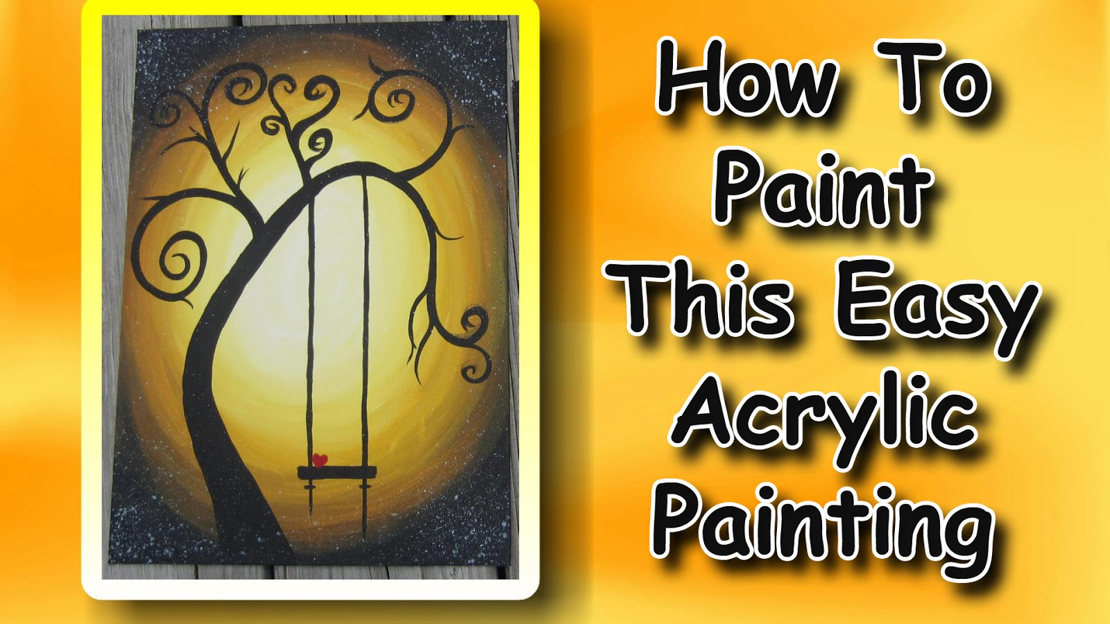 Easy Painting Easymeworld How To Paint An Easy Acrylic Painting For Beginners