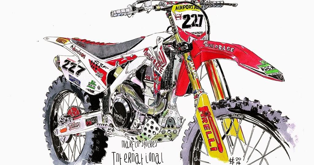 Martin Squires Automotive Illustration: International Dirt Bike Show 2014