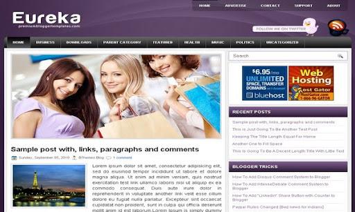 Eureka Blogger Template