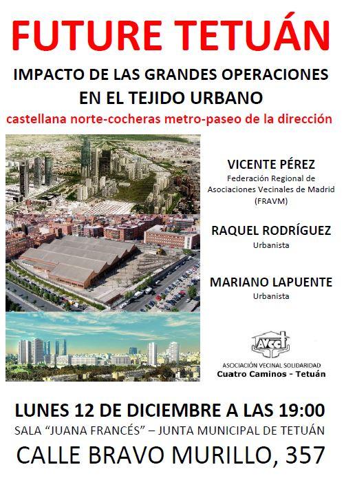 12 diciembre El urbanismo en Madrid Norte