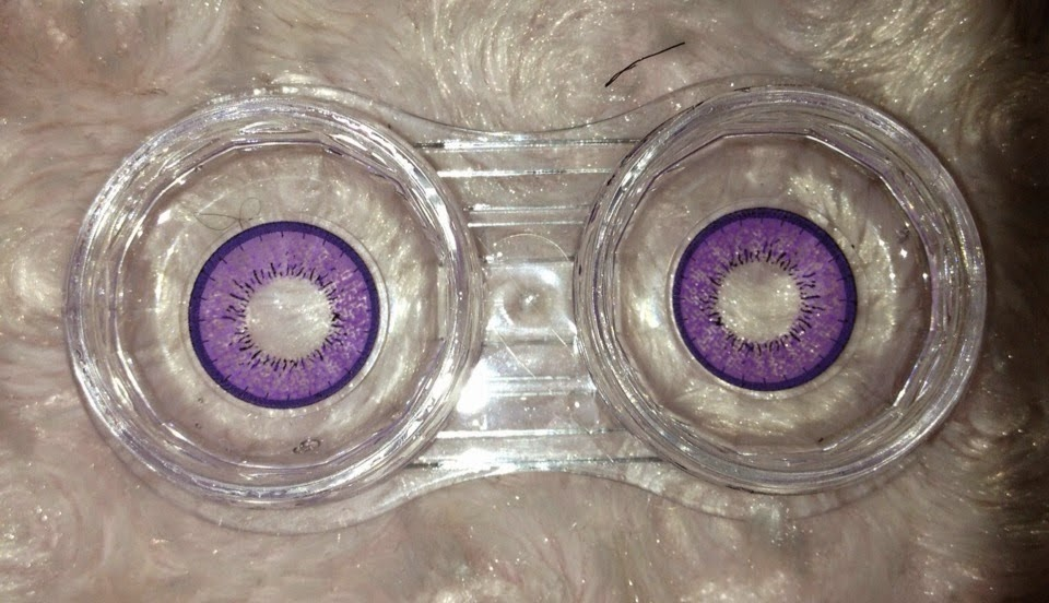 Dolly Eye Blytheye Violet colored contacts