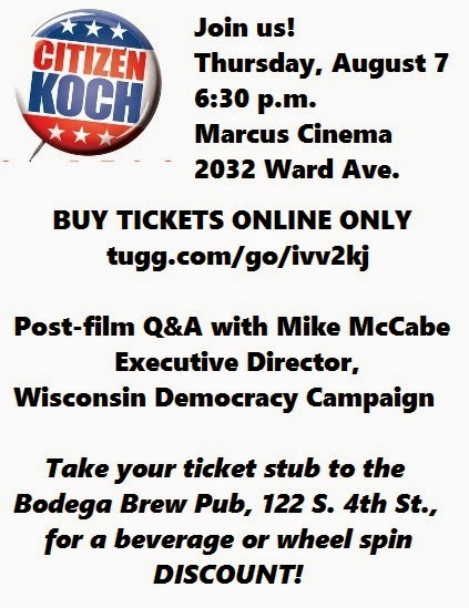 Join us for a screening of Citizen Koch!